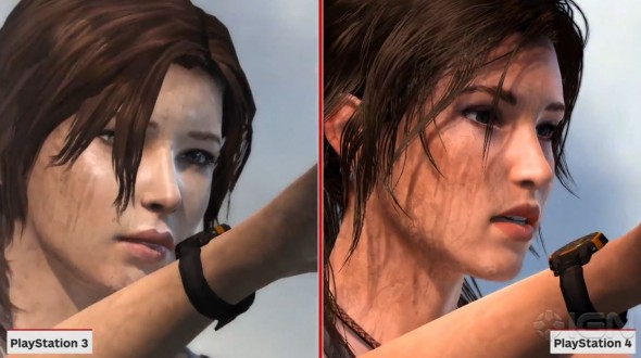 IGN's comparison footage goes a long way to show the visual improvement in Lara's face...