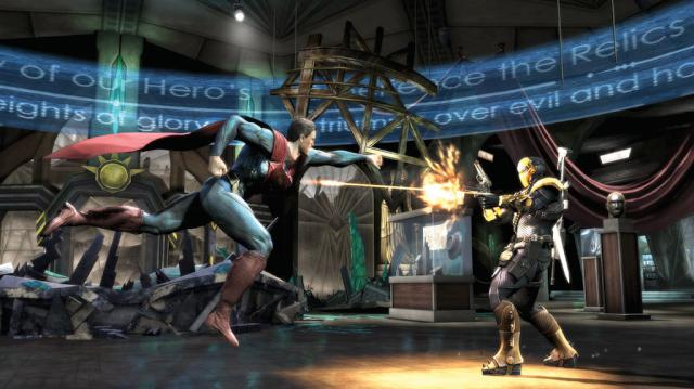 Injustice on the PS4 - that's an in-game screenshot too. Crikey.