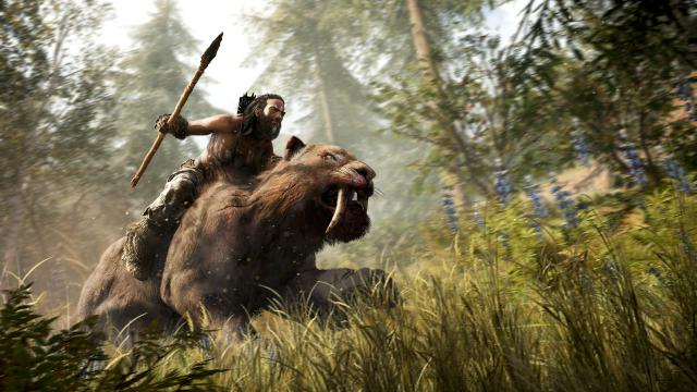 And have you ever seen anything as cool as riding a sabre-toothed tiger? No, us neither.
